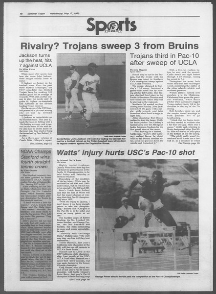 Summer Trojan, Vol. 109, No. 1, May 17, 1989