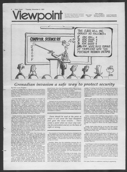 Daily Trojan, Vol. 94, No. 45, November 08, 1983