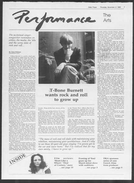 Daily Trojan, Vol. 94, No. 42, November 03, 1983