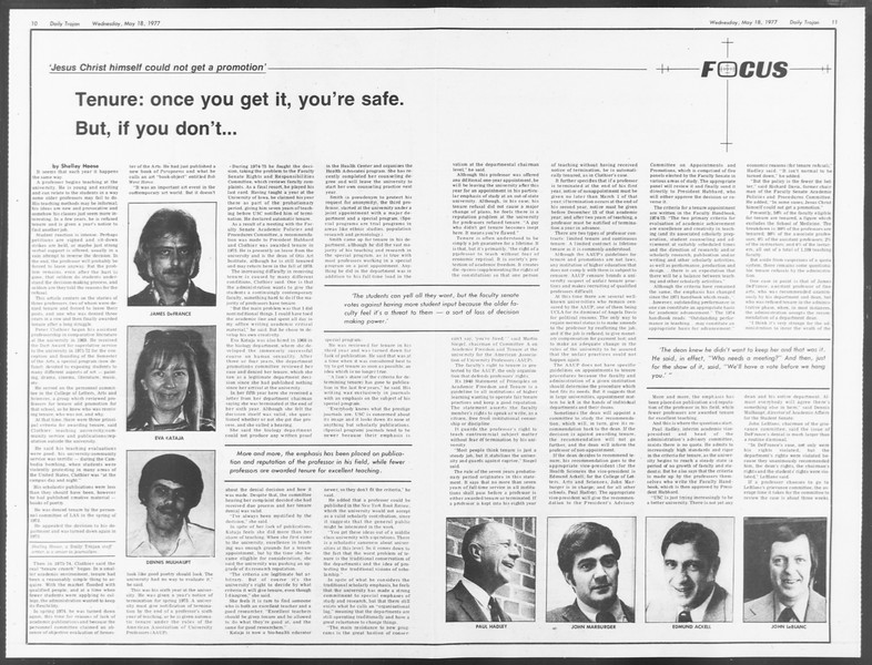 Daily Trojan, Vol. 71, No. 62, May 18, 1977