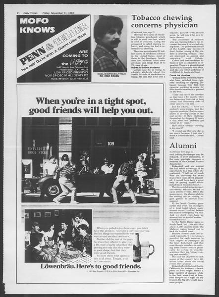 Daily Trojan, Vol. 94, No. 48, November 11, 1983