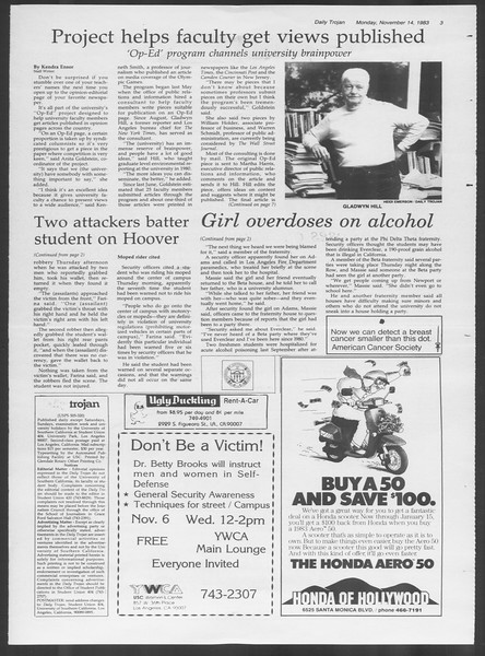 Daily Trojan, Vol. 94, No. 49, November 14, 1983