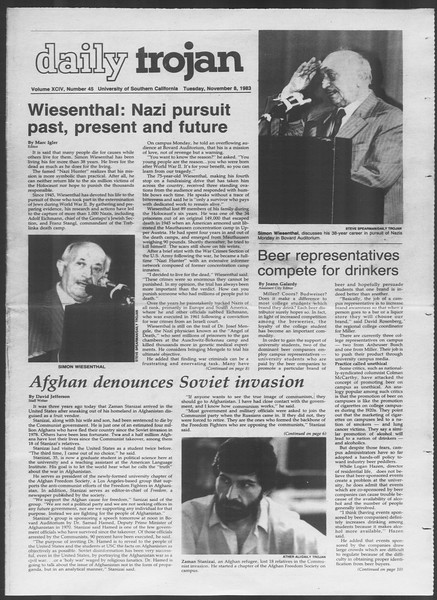 Daily Trojan, Vol. 94, No. 45, November 08, 1983