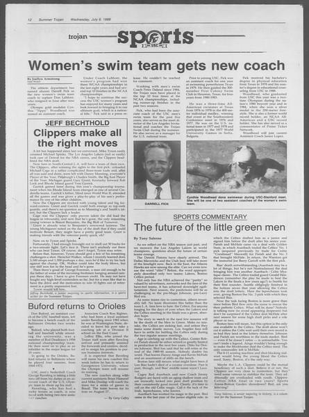 Summer Trojan, Vol. 107, No. 9, July 06, 1988