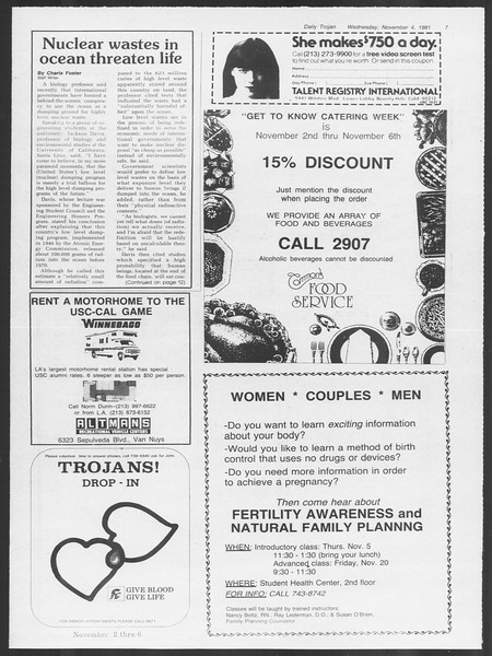 Daily Trojan, Vol. 91, No. 45, November 04, 1981