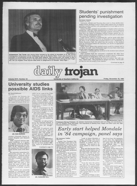 Daily Trojan, Vol. 94, No. 53, November 18, 1983