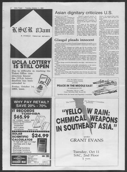 Daily Trojan, Vol. 94, No. 26, October 11, 1983