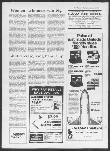 Daily Trojan, Vol. 94, No. 61, December 05, 1983