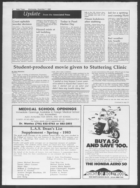 Daily Trojan, Vol. 94, No. 63, December 07, 1983