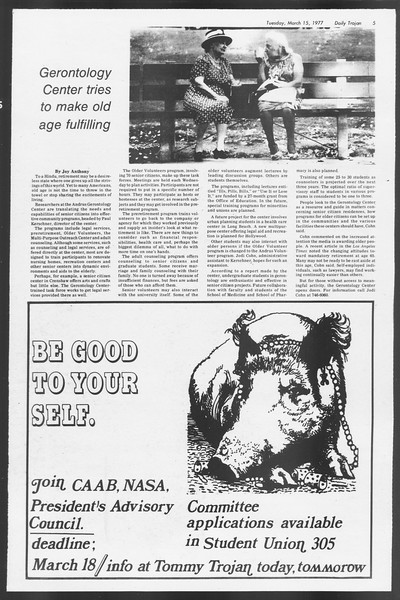 Daily Trojan, Vol. 71, No. 24, March 15, 1977