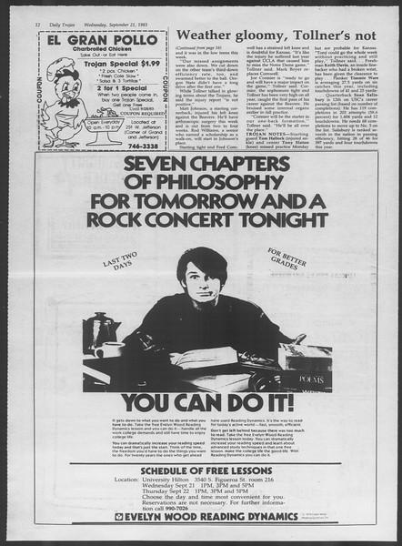 Daily Trojan, Vol. 94, No. 12, September 21, 1983