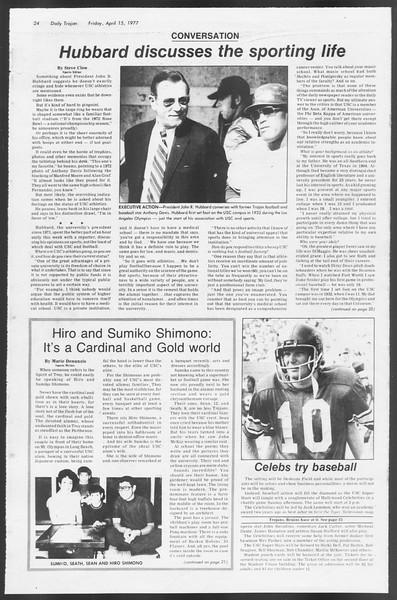 Daily Trojan, Vol. 71, No. 40, April 15, 1977