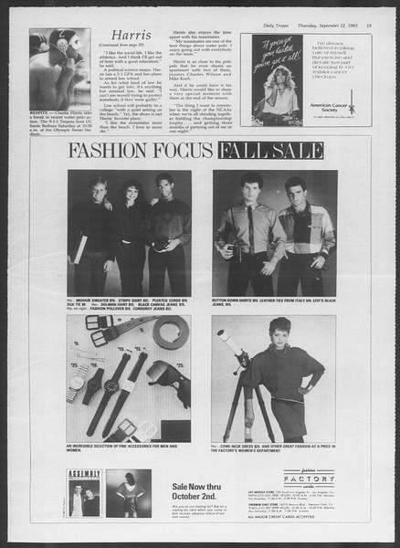 Daily Trojan, Vol. 94, No. 13, September 22, 1983