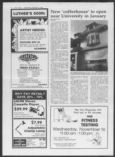 Daily Trojan, Vol. 94, No. 46, November 09, 1983