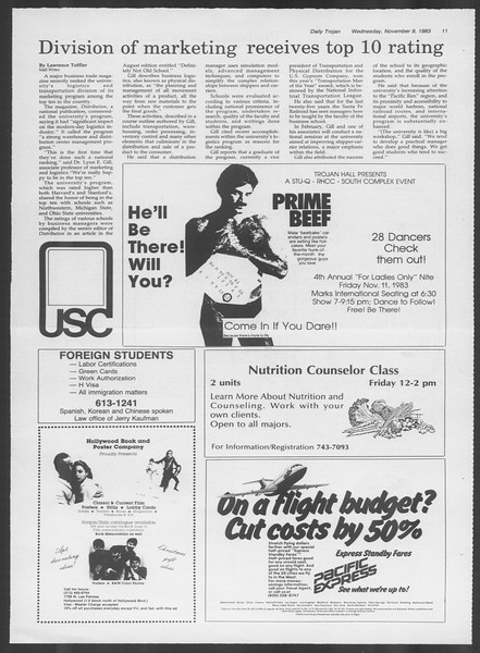 Daily Trojan, Vol. 94, No. 46, November 09, 1983