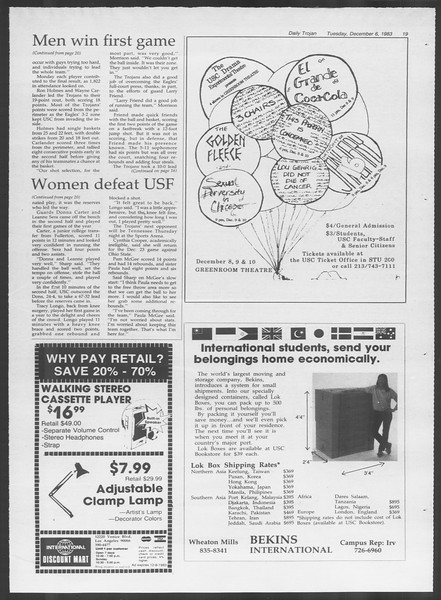 Daily Trojan, Vol. 94, No. 62, December 06, 1983