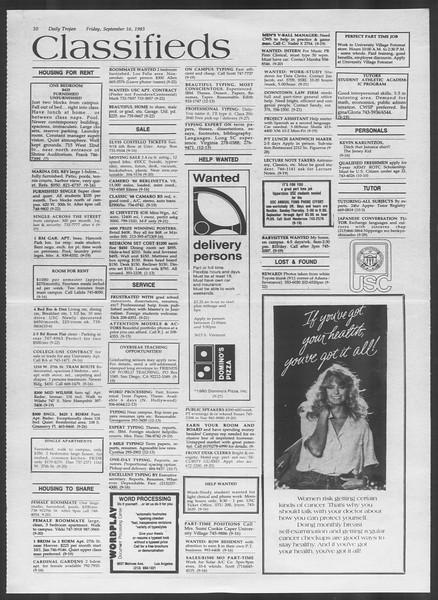 Daily Trojan, Vol. 94, No. 9, September 16, 1983