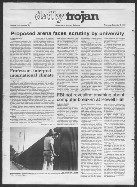 Daily Trojan, Vol. 94, No. 64, December 08, 1983