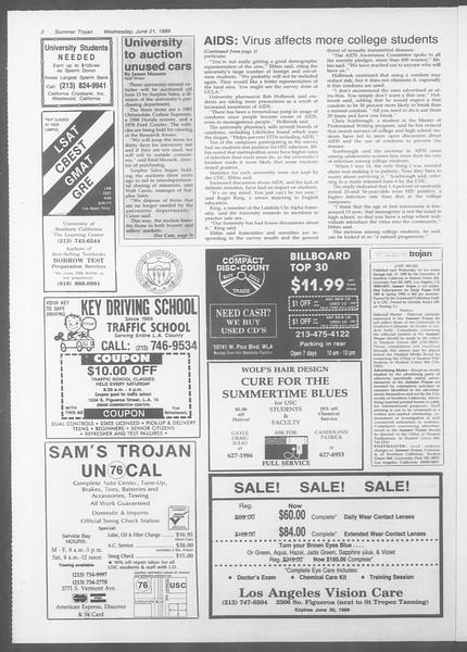 Summer Trojan, Vol. 109, No. 6, June 21, 1989