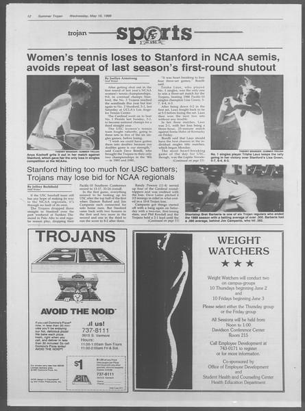 Summer Trojan, Vol. 107, No. 2, May 18, 1988