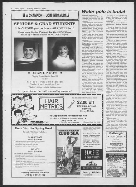 Daily Trojan, Vol. 102, No. 26, October 07, 1986