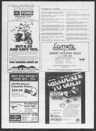 Daily Trojan, Vol. 94, No. 66, December 12, 1983