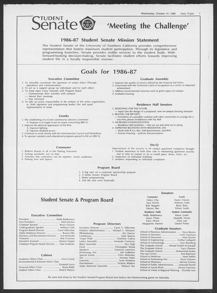 Daily Trojan, Vol. 102, No. 32, October 15, 1986
