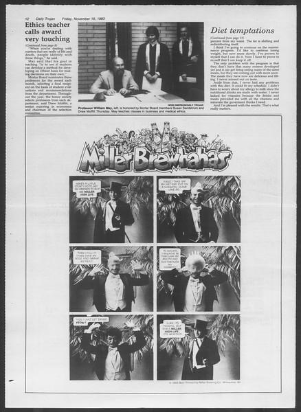 Daily Trojan, Vol. 94, No. 53, November 18, 1983