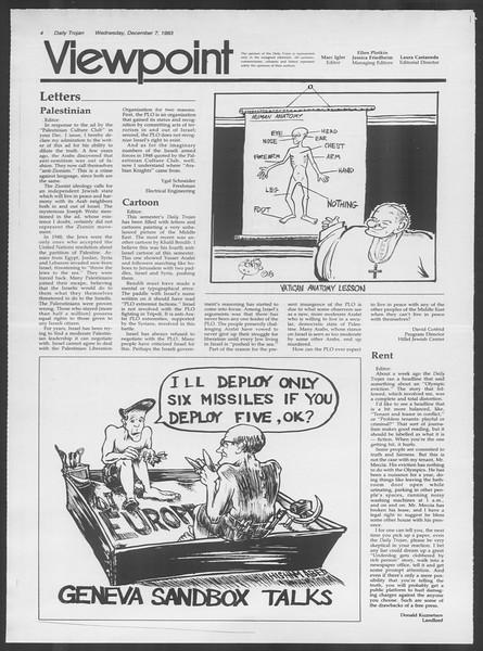 Daily Trojan, Vol. 94, No. 63, December 07, 1983
