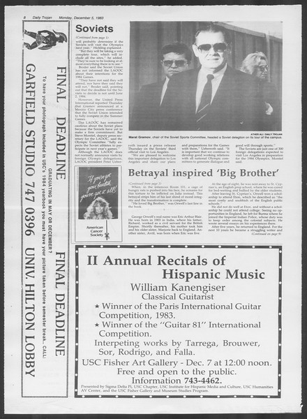 Daily Trojan, Vol. 94, No. 61, December 05, 1983