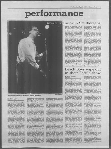 Summer Trojan, Vol. 107, No. 3, May 25, 1988