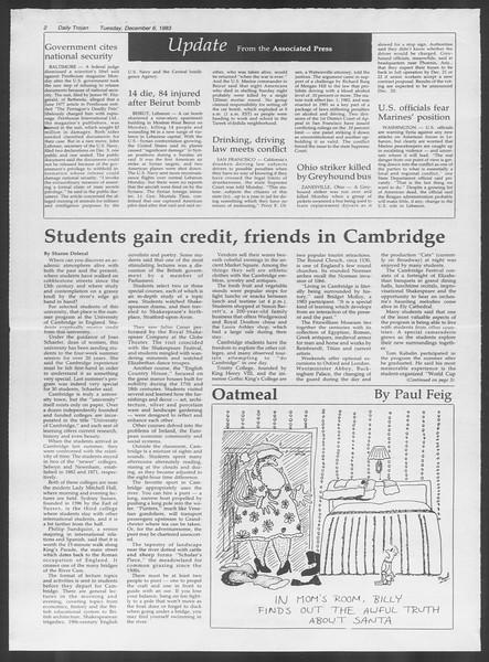 Daily Trojan, Vol. 94, No. 62, December 06, 1983