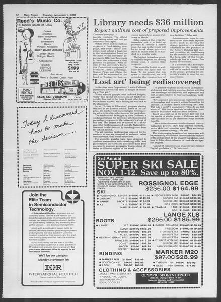 Daily Trojan, Vol. 94, No. 40, November 01, 1983