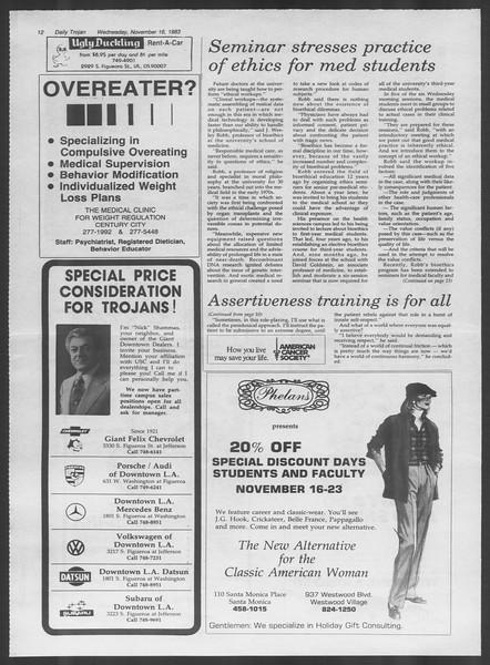 Daily Trojan, Vol. 94, No. 51, November 16, 1983