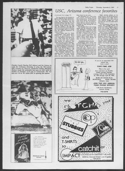 Daily Trojan, Vol. 94, No. 3, September 08, 1983