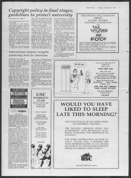 Daily Trojan, Vol. 94, No. 6, September 13, 1983