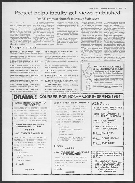 Daily Trojan, Vol. 94, No. 49, November 14, 1983