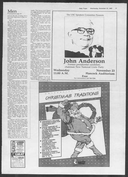 Daily Trojan, Vol. 94, No. 56, November 23, 1983