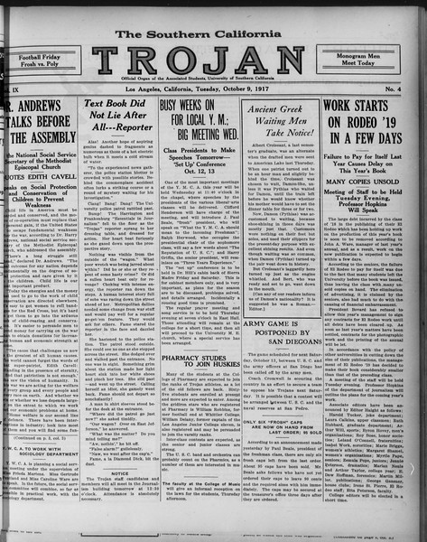 The Southern California Trojan, Vol. 9, No. 4, October 09, 1917