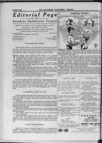 The Southern California Trojan, Vol. 11, No. 23, November 21, 1919