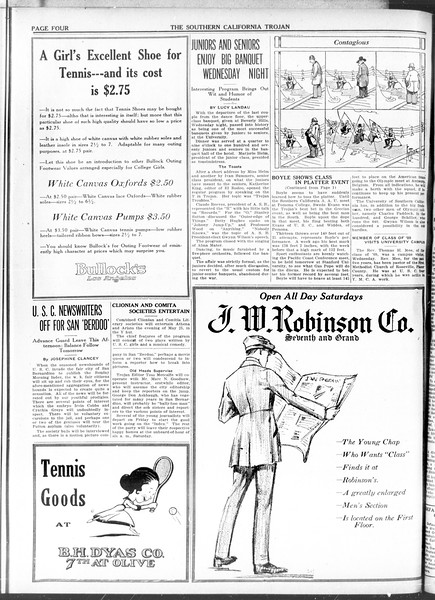 The Southern California Trojan, Vol. 11, No. 95, May 14, 1920