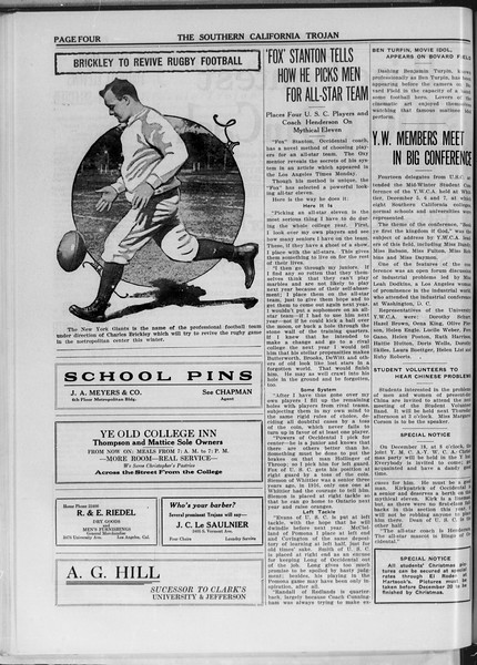 The Southern California Trojan, Vol. 11, No. 30, December 09, 1919