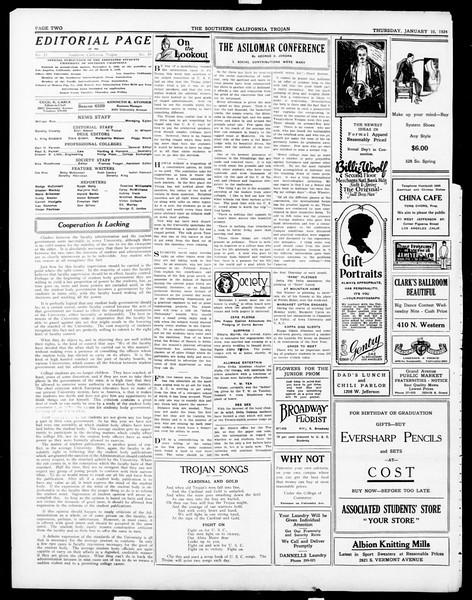 The Southern California Trojan, Vol. 15, No. 39, January 10, 1924