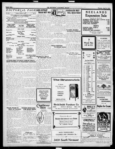 The Southern California Trojan, Vol. 14, No. 77, April 12, 1923