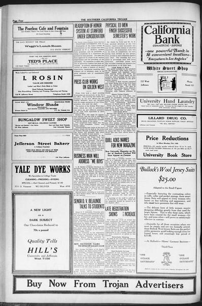 The Southern California Trojan, Vol. 12, No. 60, February 18, 1921