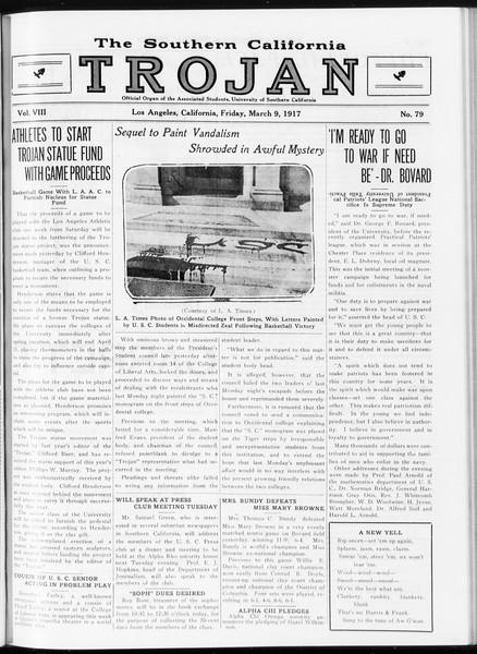 The Southern California Trojan, Vol. 8, No. 79, March 09, 1917