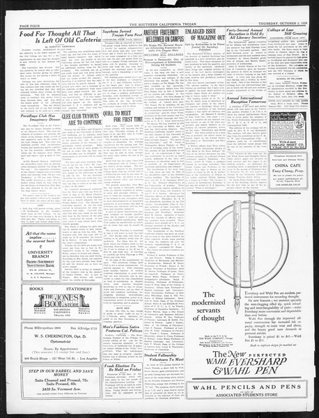 The Southern California Trojan, Vol. 16, No. 6, October 02, 1924