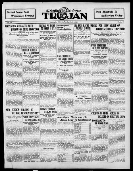 The Southern California Trojan, Vol. 15, No. 72, April 08, 1924