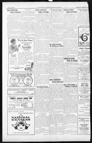 Daily Trojan, Vol. 16, No. 78, March 30, 1925