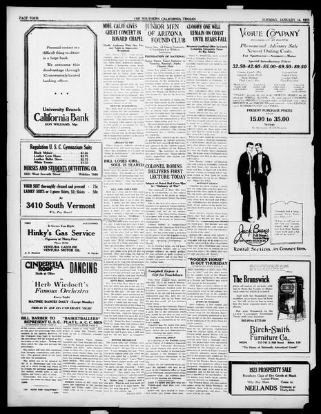 The Southern California Trojan, Vol. 14, No. 47, January 16, 1923